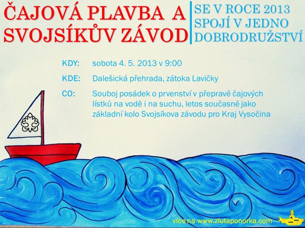 Čajová plavba 2013 pozvánka